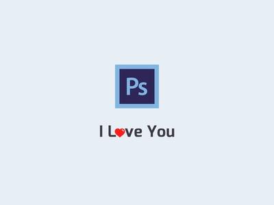 I Love You Photoshop i love you designer design product graphic icon photoshop