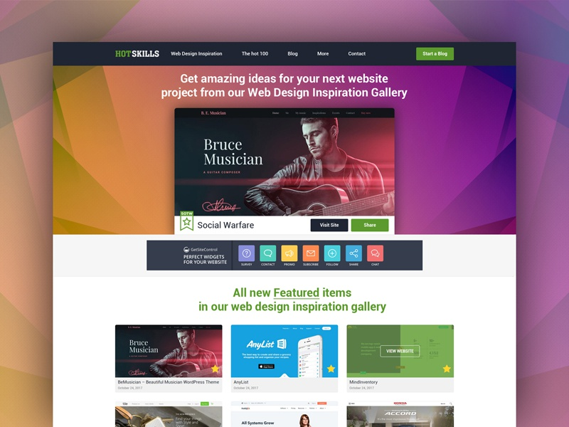 Upgraded: Web Design Inspiration Gallery by Raj Singh on ...