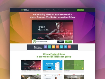 Upgraded: Web Design Inspiration Gallery web template websites inspiration portfolio design template landing page ux design website web design