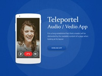 Audio Video App Design graphic design ui designer app designer web designer ux design ui design calling app video app app design