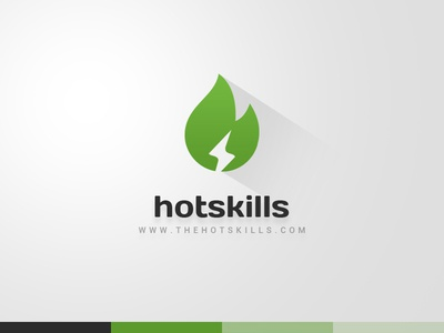 TheHotSkills - Web Design Inspiration Gallery portfolio gallery web design mockup psd green hot skills light fire logotype logo