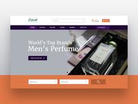 Perfumes Store - Hero Image website designer web designer web design ux designer ux design ui designer ui design perfume