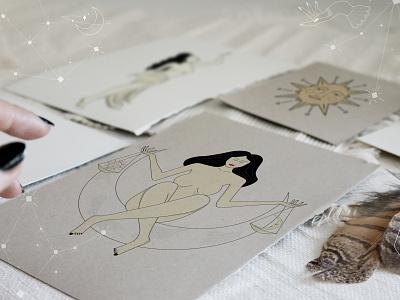 Just Cosmic Massive Collection moon goddess greek mythology zodiac signs zodiaco zodiac beauty product fashion font branding balance female feminine design nude dreams font design fonts logo illustration