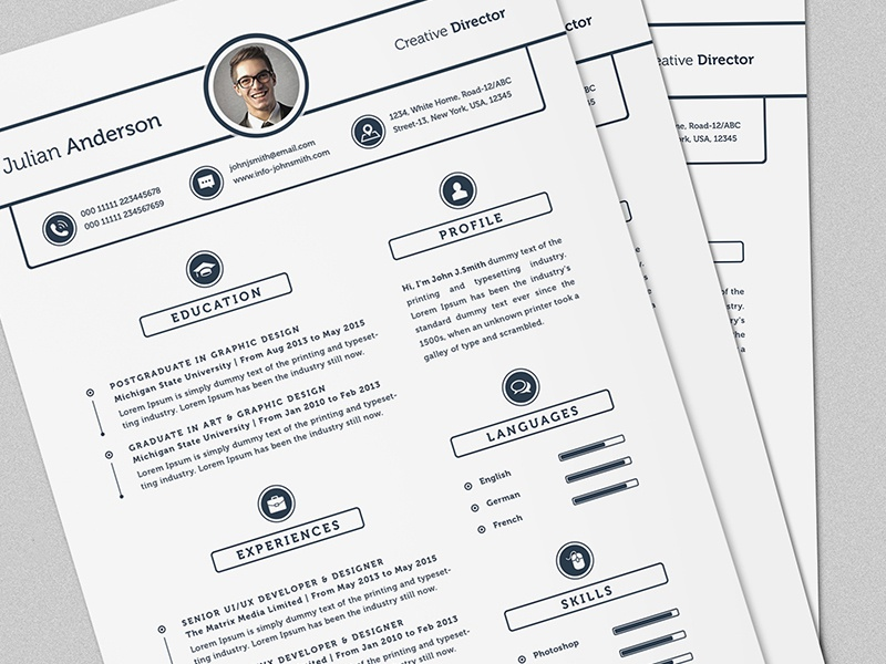 super clean resume  cv template