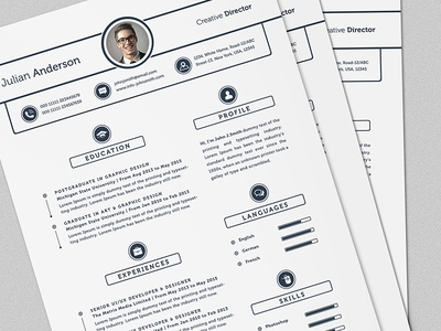 Super Clean ResumeCV Template With MS Word by Daniel E Graves