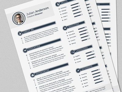 the smart cv resume full set template by daniel e graves dribbble
