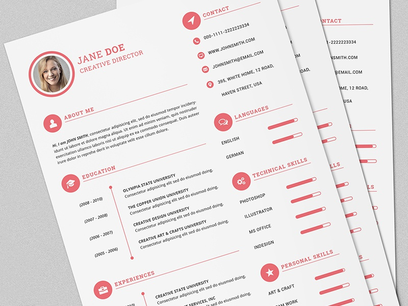 the power resume  cv set for male  u0026 female by daniel e graves
