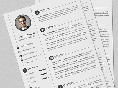 CV/Resume Full Set Print Template With MS Word by Daniel E Graves
