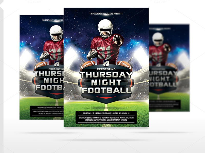 american football night flyer template psd by daniel e graves