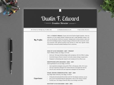 All in One Elegant Resume CV Pack by Daniel E Graves - Dribbble
