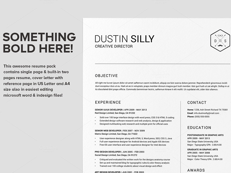 Bold & Clean Resume CV - Silly By Daniel E Graves