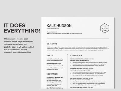 Clean Resume Cv Hudson By Daniel E Graves Dribbble