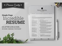 Incredible Single Page Resume