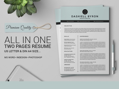 All in One Two Pages Resume Pack