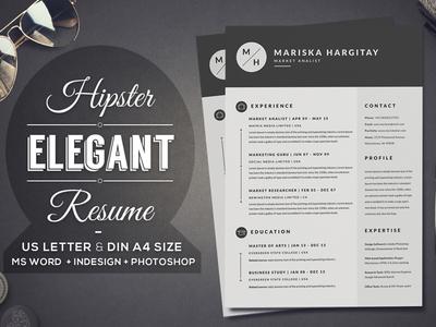 2 Pages Hipster Elegant Resume