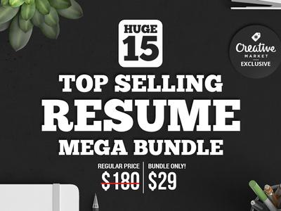 15 Top Selling Resume Mega Bundle