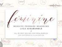 Feminine Massive Premade Branding Logo Gigabundle