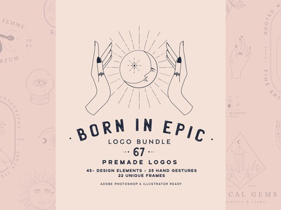 Born in Epic Logo Bundle