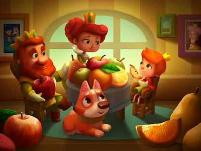 the Fruit Kingdom dog fruits candy kids art book illustration children