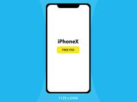 iPhoneX PSD Mockup free Download