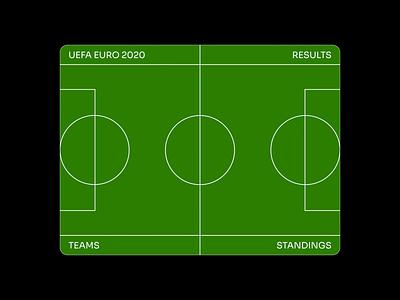 Euro 2020 sports euro minimalistic simple lines field animation vector ui flat motion graphic design design webdesign layout football