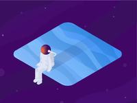 Astronaut just chillin'
