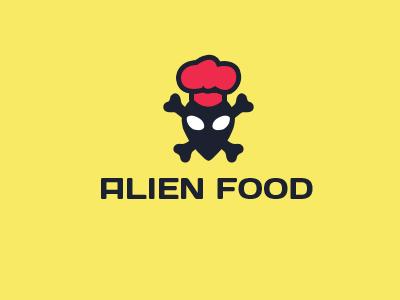 Alien Food logo design food logo alien logo best logo cook logo lithuania