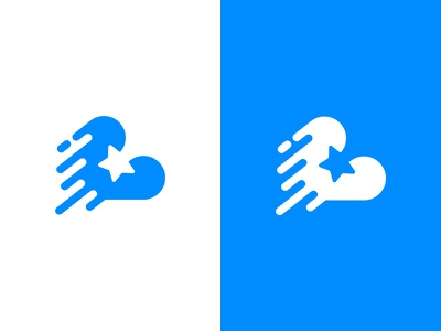 Cloud & Star star cloud logo blue star logo cloud logo