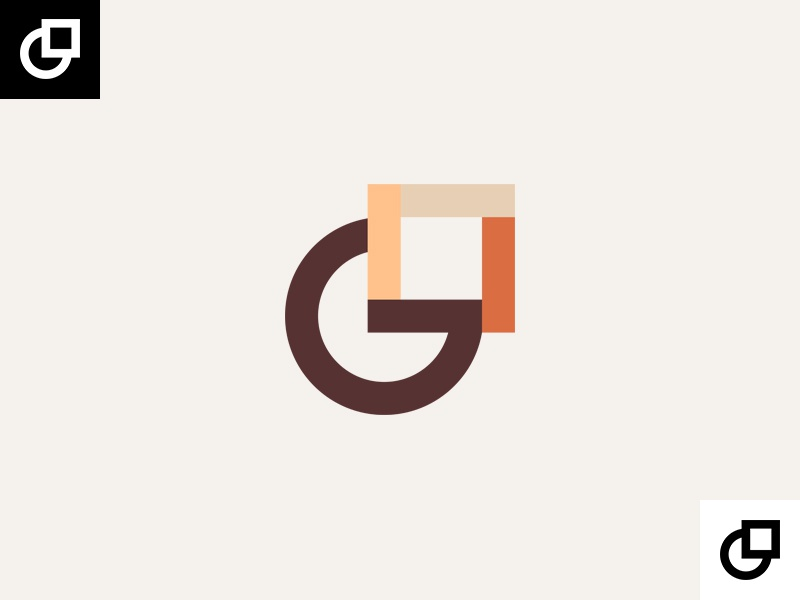G letter and square lithuania vilnius square letter g monogram logo design wood