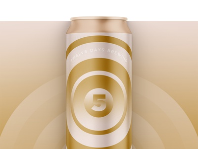 12 Days of Brewing :: 5 Golden Rings christmas beer can beer packaging cpg holiday design holiday beer label label can