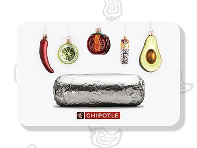 Chipotle Gift Cards — Ornaments ornaments holiday avocado burrito gift card