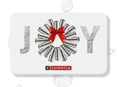 Chipotle Gift Cards — Burrito Wreath wreath burrito holiday gift card