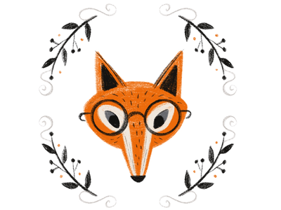 Mr. Fox autumn fall glasses inktober woodland animals animals woodland fox