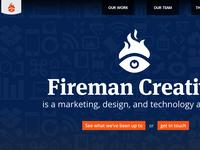 New Fireman Creative Website