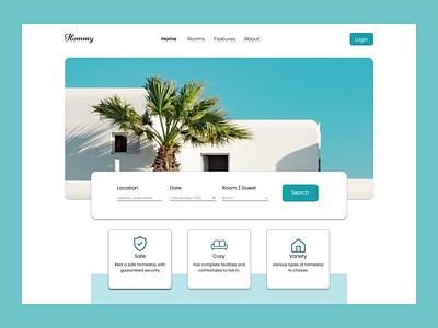 Hommy website app house villa homestay home ux ui design