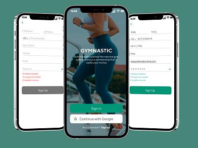 Smart Gym Sign Up - Mobile Apps mobiledesign dailyui app illustration design ux ui