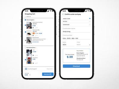 Credit Card Checkout (E-commerce) e-commerce ui ux mobiledesign illustration design dailyui app