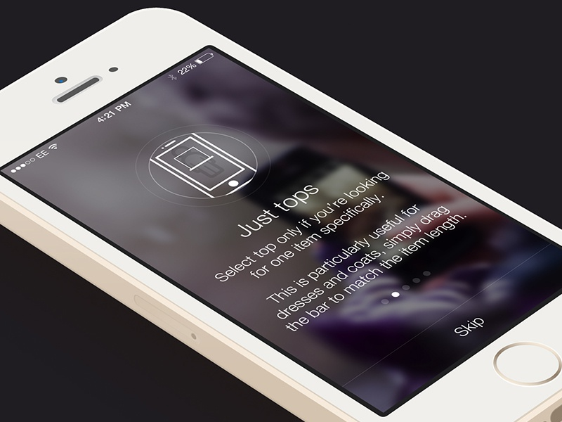 Wear Preview #1 ios7 clean startup walkthrough fashion product service illustration white photography