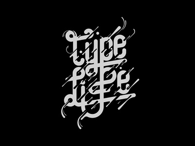 Type Life | Lettering vector illustration graphic type lettering typography