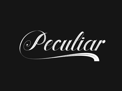 Brand Peculiar PPL | Lettering vector illustration graphic type lettering typography