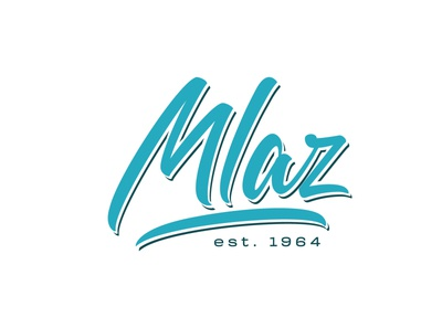 Mlaz mlaz illustration brush logo typography lettering handlettering