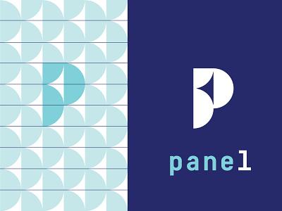 Panel 1 draft symbol smart clean typography minimal logo panel