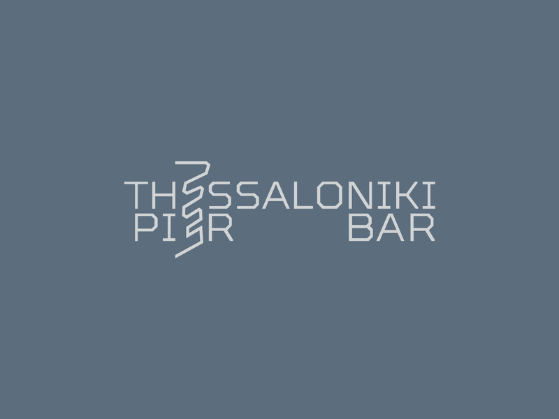 Thess Pier Bar clean simple smart typography minimal logo