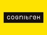 CogniTrek hitech futuristic software typography clean minimal logodesign customtypography logotype logo