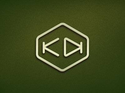 KD super hero kawaii logo