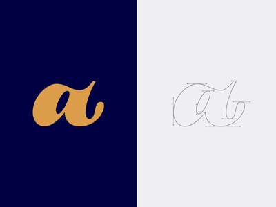 JUST a letterart sleek symbol typography start lettera vector beziercurves smooth font design aletteraday