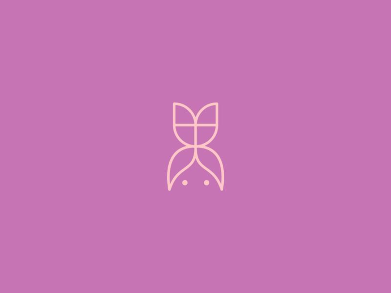 Girl Power poster floristlogo florist smooth simple symbol clean minimal flowerpower girlpower power
