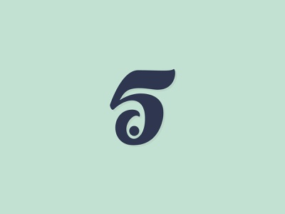5 point customdesign brush smart handlettering lettering 5 logodesign logo 5point