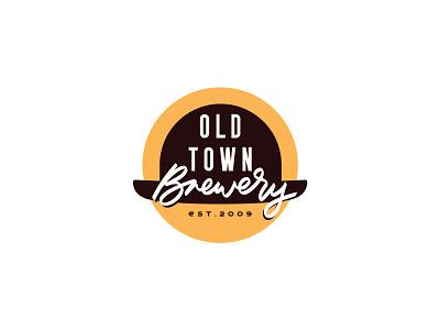 Old Town Brewery brewery branding brewery logo logotype typography hat lettering beer branding oltownbrewery brewery logodesign logo
