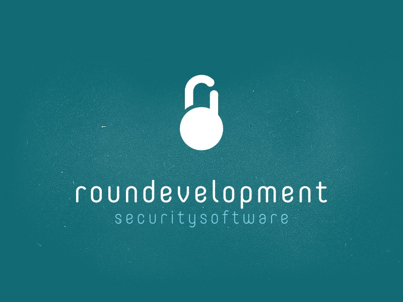Roundevelopment Logo prefinal logo round lock keylocker minimal software security